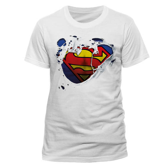 Superman Torn Logo DC Comics Official Unisex T-Shirt