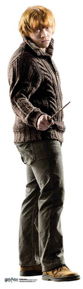 Ron Weasley holding wand Mini Cardboard Cutout
