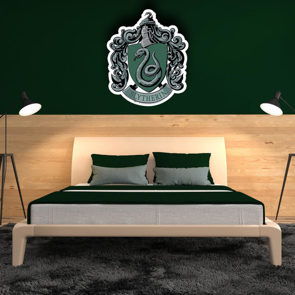 Slytherin Crest from Harry Potter Cardboard Cutout in Situ