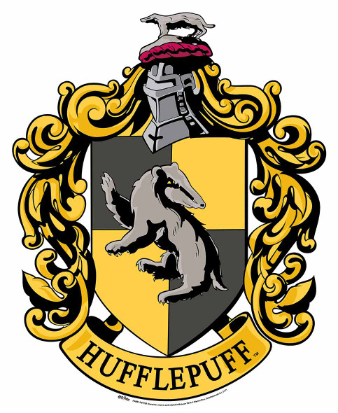 Hufflepuff Crest from Harry Potter Wall Mounted Official Cardboard Cutout