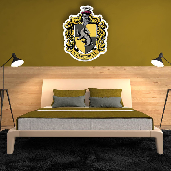 Hufflepuff Crest from Harry Potter Wall Cardboard Cutout in situ