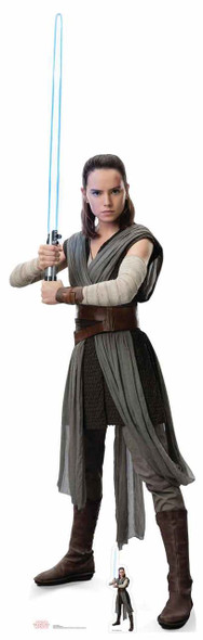 Rey Star Wars The Last Jedi Lifesize Cardboard Cutout