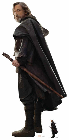 Luke Skywalker Star Wars The Last Jedi Lifesize Cardboard Cutout