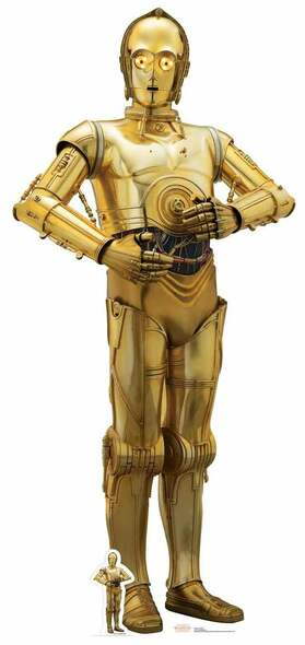 C-3PO Star Wars The Last Jedi Lifesize Cardboard Cutout