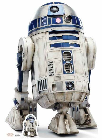 R2-D2 Star Wars The Last Jedi Lifesize Cardboard Cutout