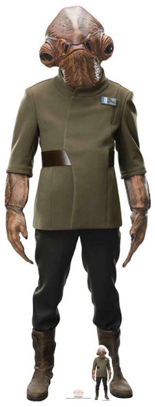 Admiral Ackbar Star Wars The Last Jedi Lifesize Cardboard Cutout