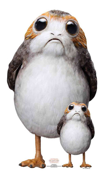 Porg Star Wars The Last Jedi Lifesize Cardboard Cutout