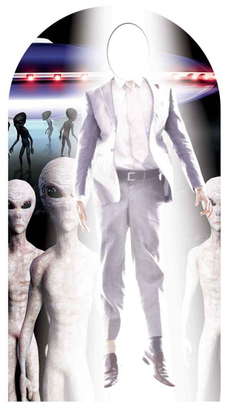 Alien Abduction Stand In Lifesize Cardboard Cutout / Standee
