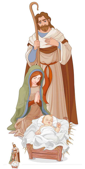 Nativity Scene Lifesize Cardboard Cutout