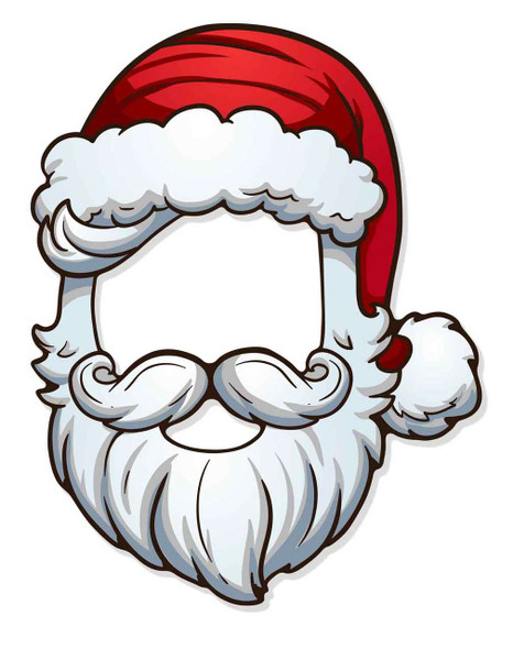 Father Christmas Santa 2D Card Open Face Mask