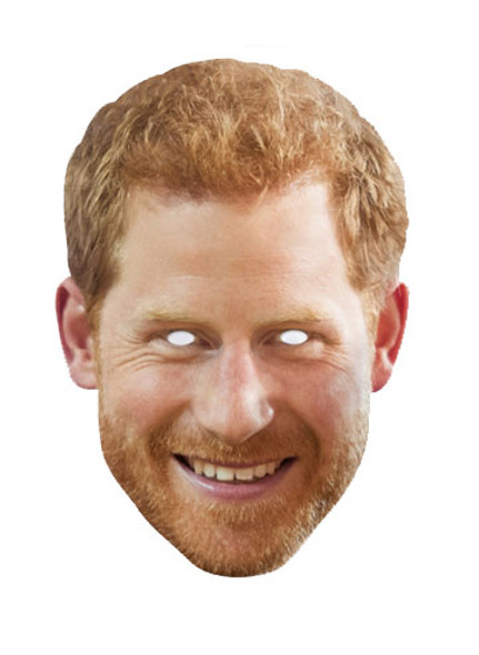 Prince Harry with Beard Royal Single Card Mask