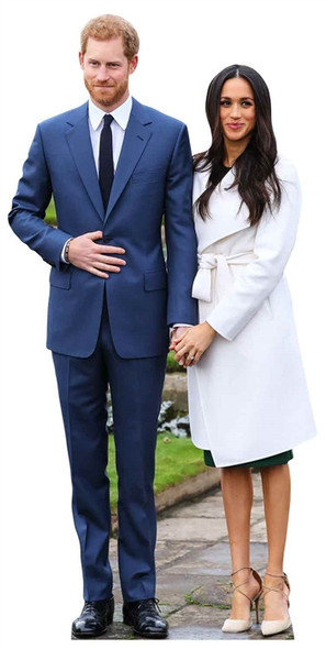 Prince Harry and Meghan Markle Mini Cardboard Cutout / Standup