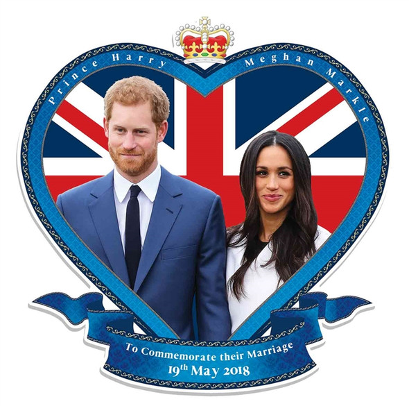 Prince Harry and Meghan Markle Royal Wedding Wall Mounted Cardboard Cutout