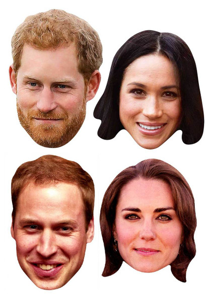Platinum Jubilee Face Masks - 4 Pack inc Harry & Meghan