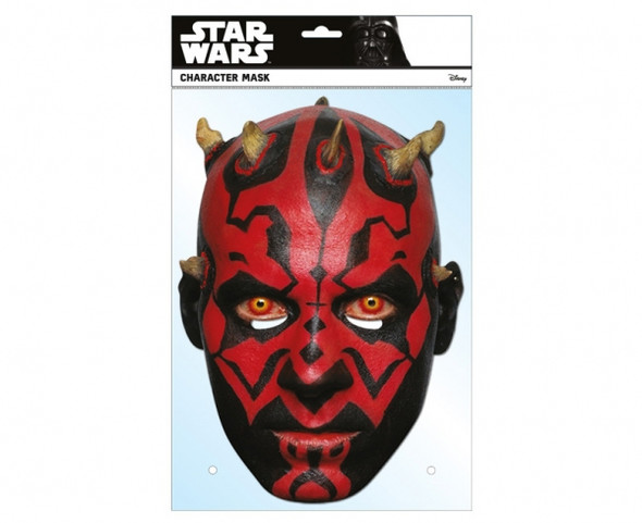 Darth Maul Star Wars Single Card 2D Party Face Mask