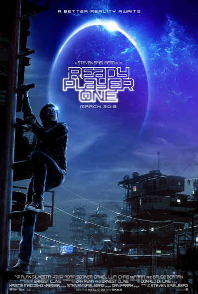 Ready Player One Original Movie Poster - Double Sided Advance Style