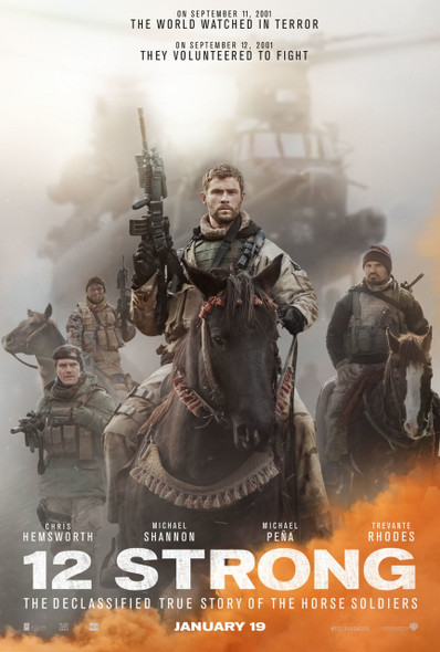 12 Strong Original Movie Poster - Double Sided Advance Style