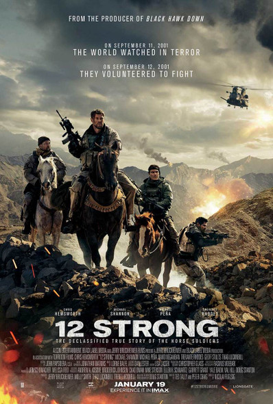 12 Strong Original Movie Poster - Double Sided Final Style