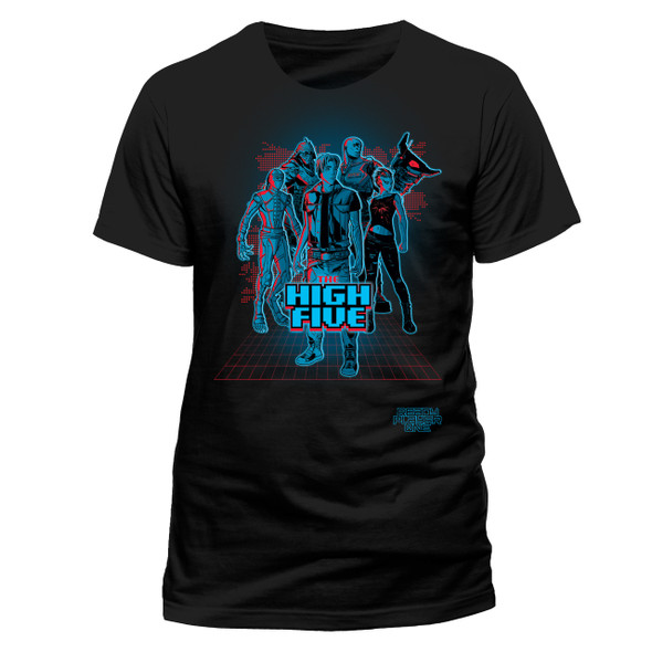 Ready Player One High Five Official Black Unisex T-Shirt