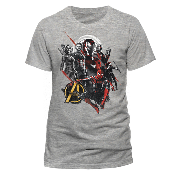 Avengers: Infinity War Group Pose Official Marvel Grey Unisex T-Shirt