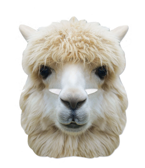 Alpaca Animal 2D Card Party Face Mask