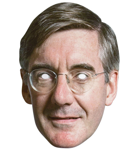 Jacob Rees-Mogg British Politician 2D Card Party Face Mask