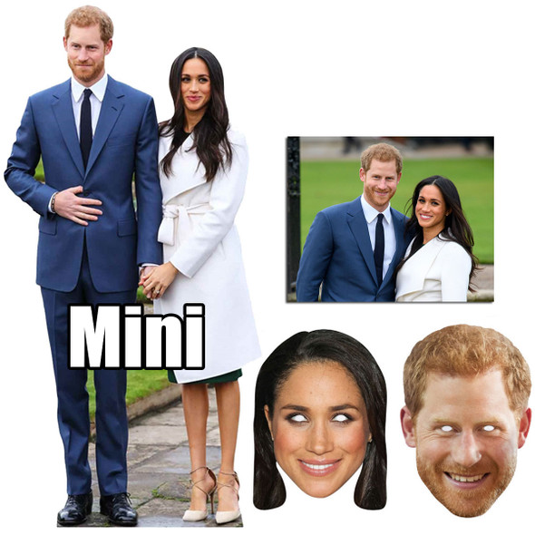 Royal Wedding 2018 Prince Harry and Meghan Markle Cutout and Mask Bronze Package