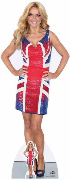 Geri Halliwell Union Jack Dress Lifesize Cardboard Cutout / Standup