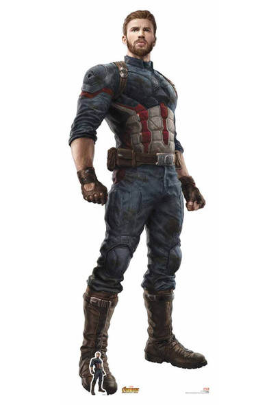 Captain America Avengers Infinity War Lifesize Cardboard Cutout with free table top cutout