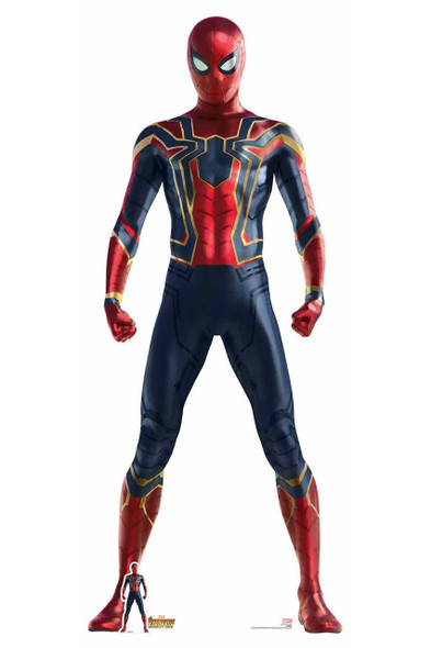 Official Spider-Man Iron Spider Suit Avengers Infinity War Lifesize Cardboard Cutout