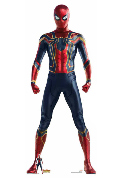 Spider-Man Iron Spider Suit Avengers Infinity War Lifesize Cardboard Cutout with free table top cutout