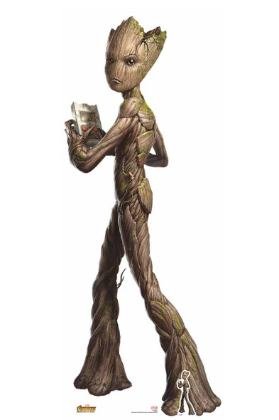 Teenage Groot Avengers Infinity War Lifesize Cardboard Cutout with free table top cutout