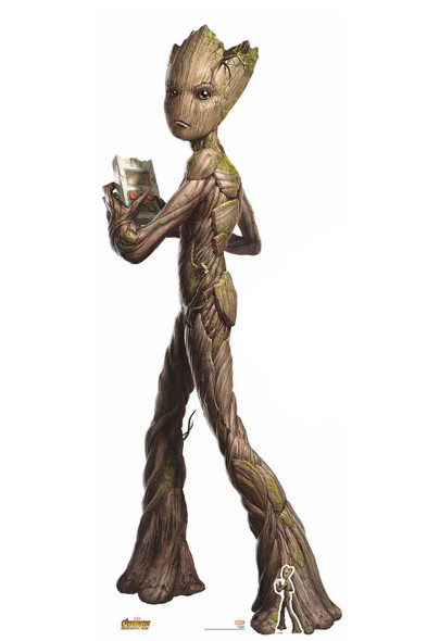 Official Teenage Groot Avengers Infinity War Lifesize Cardboard Cutout