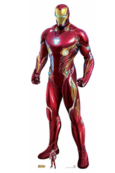 Iron Man Nanotech Suit Avengers Infinity War Lifesize Cardboard Cutout with free tabletop cutout