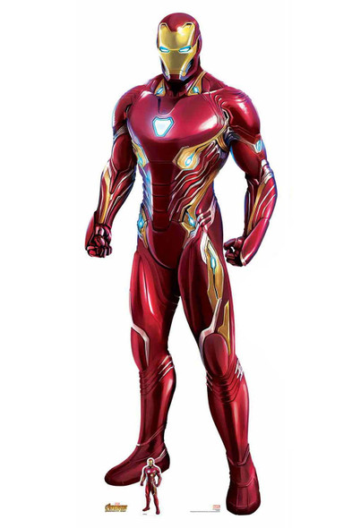 Official Iron Man Nanotech Suit Avengers Infinity War Lifesize Cardboard Cutout