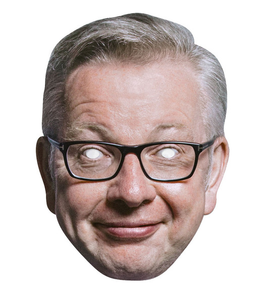Michael Gove British Politician 2D Card Party Face Mask