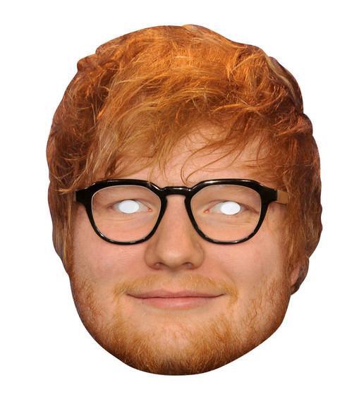 Ed Sheeran 2D Single Card Party Face Mask