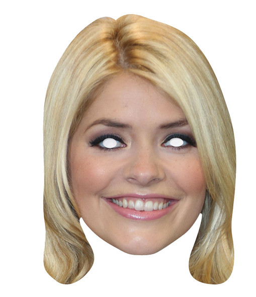 Holly Willoughby 2D Single Card Party Face Mask