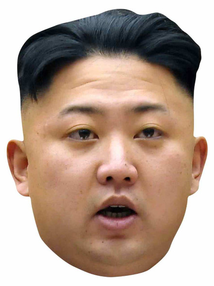 Kim Jong-un 2D Single Card Party Face Mask