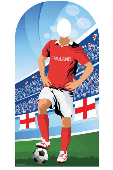 World Cup 2018 England Football Cardboard Cutout Stand-in