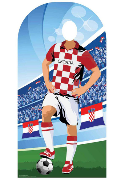 World Cup 2018 Croatia Football Cardboard Cutout Stand-in