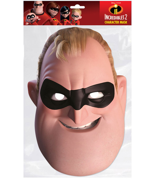 Mr Incredible Incredibles 2 2D Single Card Party Face Mask