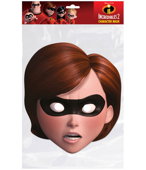 Elastigirl Incredibles 2 Single 2D Card Party Face Mask