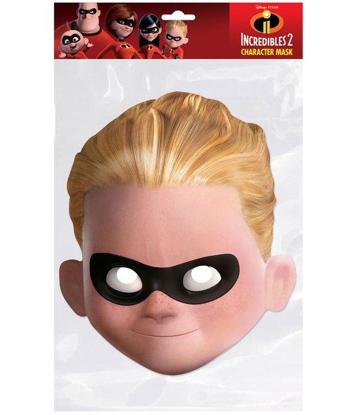 Dash Parr Incredibles 2 Single 2D Card Party Face Mask