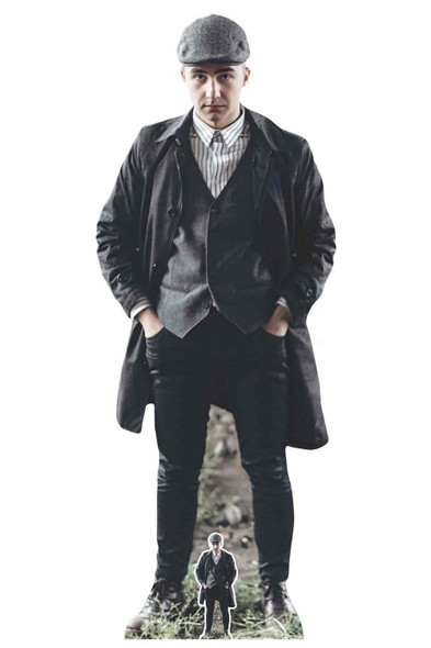 Peaky Blinders Style Gangster with Striped Shirt Cardboard Cutout