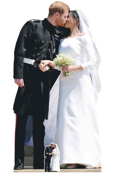 Prince Harry and Meghan Markle First Kiss Cardboard Cutout
