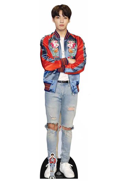 Jungkook from BTS Bangtan Boys Cardboard Cutout