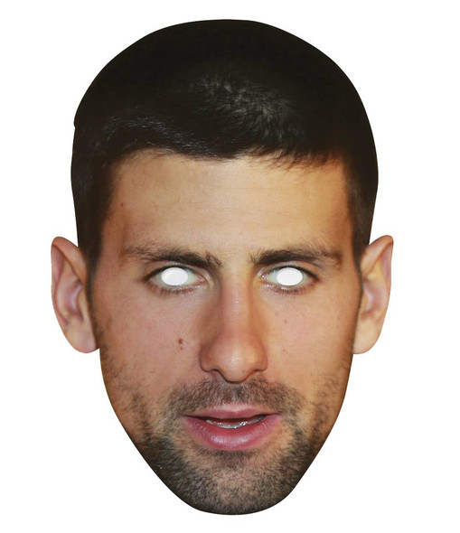 Novak Djokovic Single 2D Card Party Face Mask