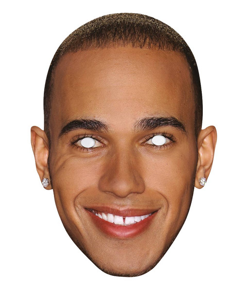 Lewis Hamilton Single 2D Card Party Face Mask