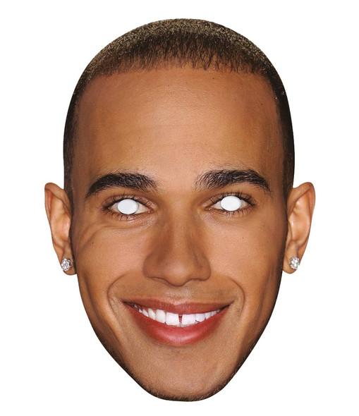 Lewis Hamilton Single 2D Card Party Face Mask